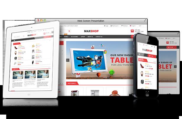 Theme WordPress bán hàng MaxShop Thiết kế Responsive