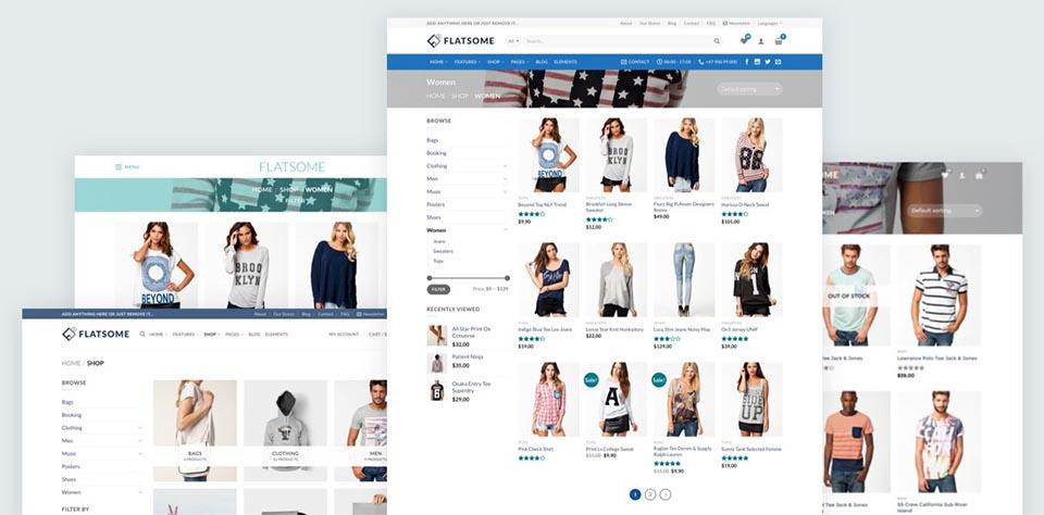 Flatsome – Theme WordPress bán hàng đẹp tuyệt vời