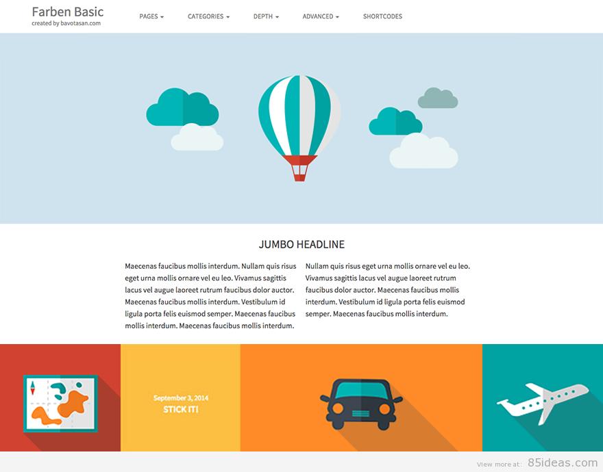 Theme WordPress làm diễn đàn forum miễn phí Farben-Basic-Free-Theme