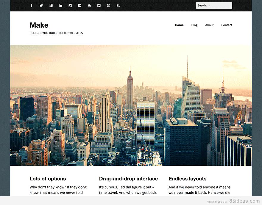 Theme WordPress làm diễn đàn forum miễn phí - Make