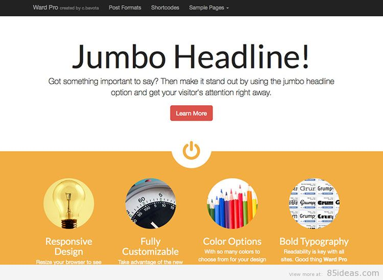 Theme WordPress làm diễn đàn forum miễn phí - Ward Pro