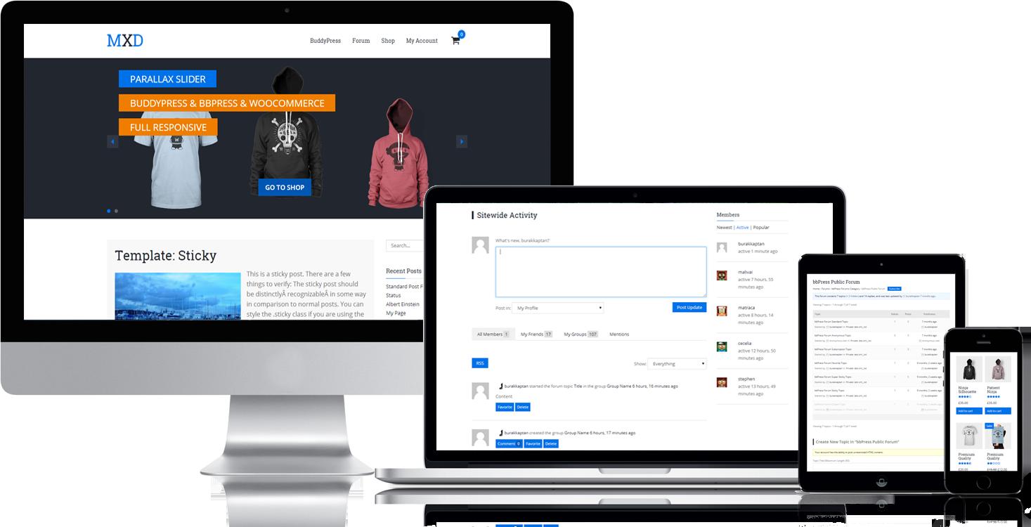 Theme WordPress làm diễn đàn forum miễn phí - Mixed