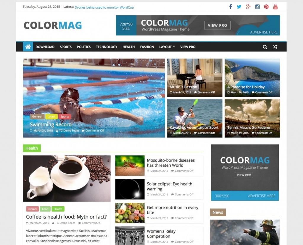 Top 15 Theme WordPress làm blog miễn phí đẹp nhất 2016 - ColorMag