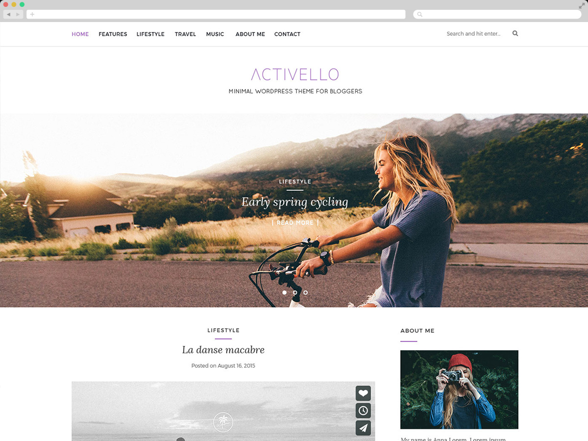 Activello - Theme WordPress làm blog miễn phí