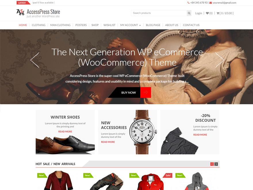 Theme WordPress bán hàng miễn phí chuyên nghiệp AccessPress Store