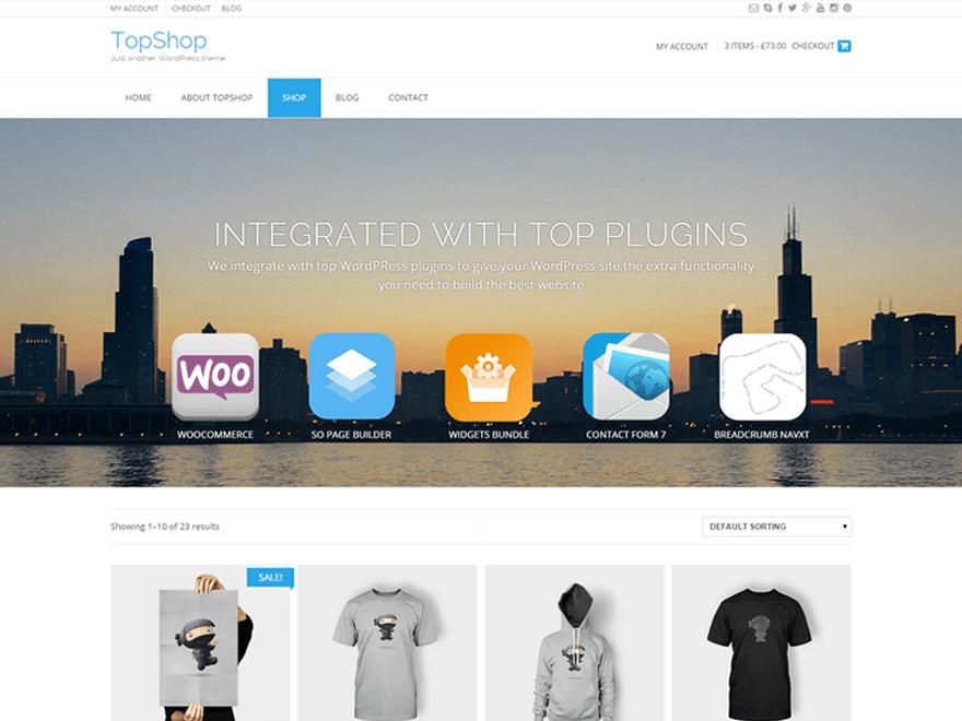 Theme WordPress Shop bán hàng đẹp Topshop