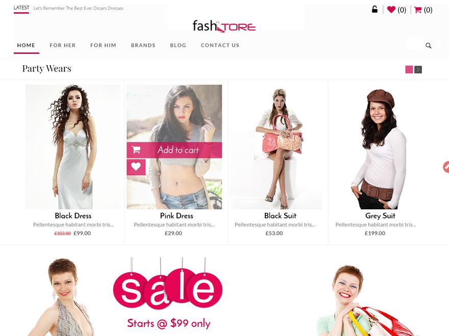 Theme WordPress bán hàng miễn phí chuyên nghiệp FashStore