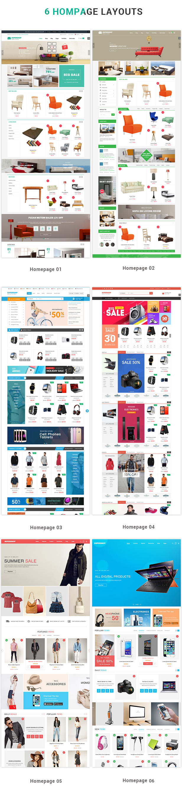 Demo theme SW Supershop – WooCommerce WordPress Theme bán hàng