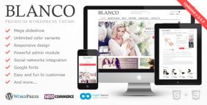 Blanco - Giao diện wordpress bán hàng thiết kế phẳng - là một theme thuộc dạng thương mại điện tử, thích hợp với một số website bán giày, quần áo thời trang