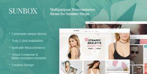 Sunbox - giao diện website bán thời trang hè, thời trang đi biển