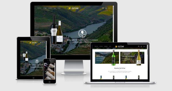 Arise - Wordpress theme bán rượu vang rượu ngoại đẹp