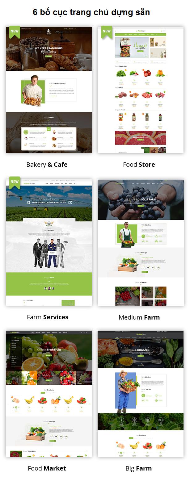FoodFarm - Theme bán hàng thực phẩm, nông trại, trái cây