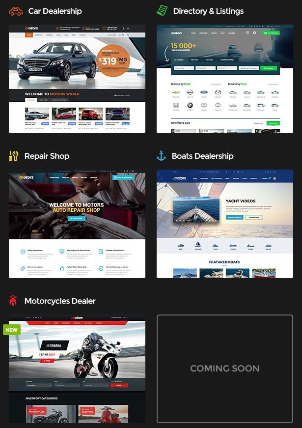 Motors – theme giới thiệu, mua bán, ký gởi ô tô, xe máy chuyên nghiệp