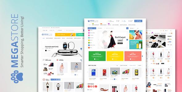 Theme Wordpress bán hàng Mega Store (7698)