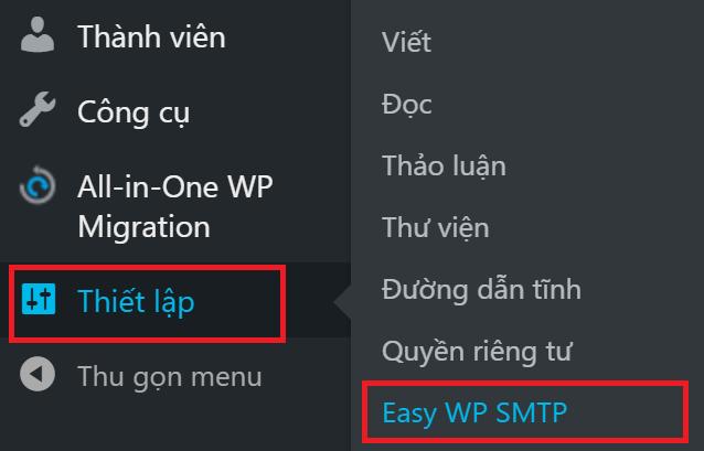 Hướng dẫn cấu hình gửi mail trên WordPress sử dụng SMTP Gmail