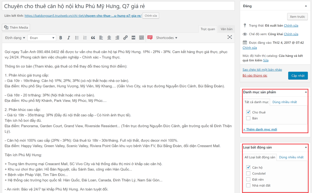 Theme WordPress bất động sản mẫu số 5