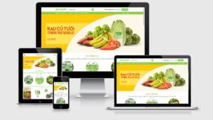 Theme Wordpress nông sản - Nông trại - Bán rau củ quả