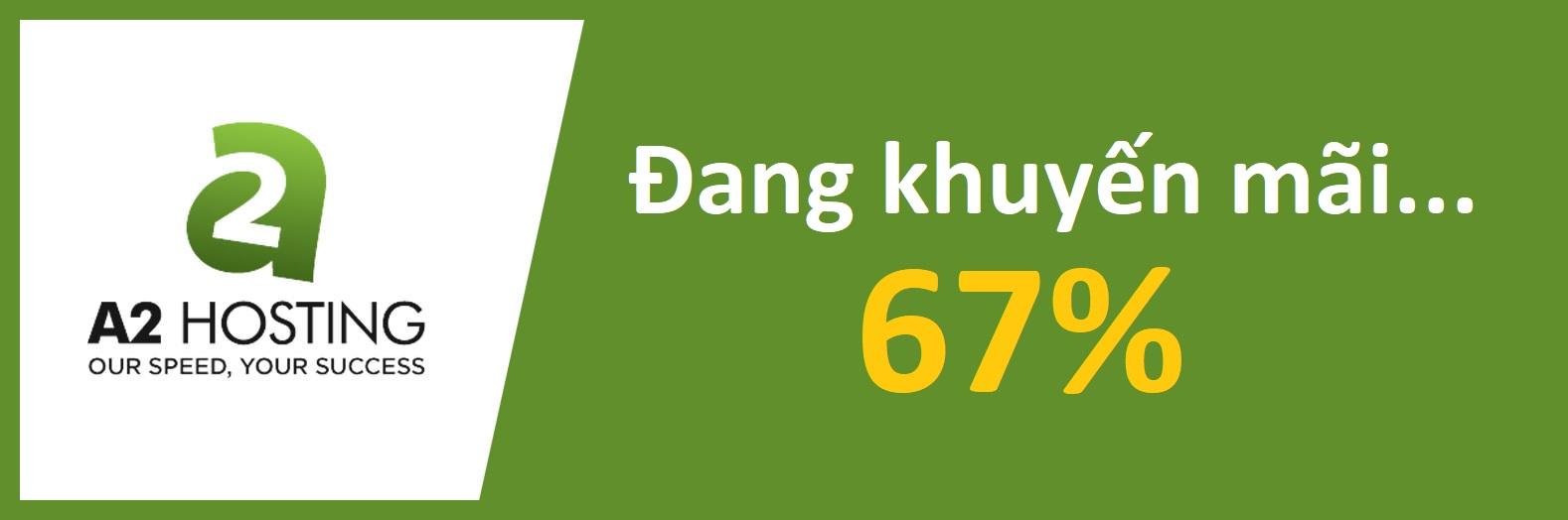 A2Hosting khuyến mãi 67%