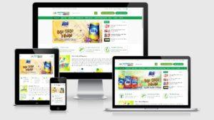 Theme Wordpress bán nước giặt, bột giặt, hóa mỹ phẩm - VietSuns
