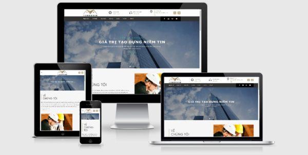 Theme Wordpress công ty xây dựng đẹp tuyệt vời mẫu số 2