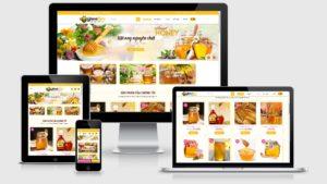 Theme Wordpress bán mật ong đẹp tuyệt vời