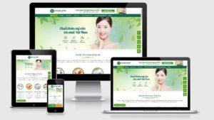 Theme Wordpress spa đẹp mẫu số 3 - Hoa Hồng Spa
