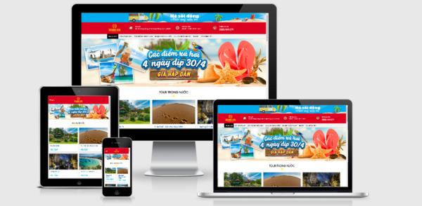 Theme Wordpress du lịch Việt hóa mẫu số 2