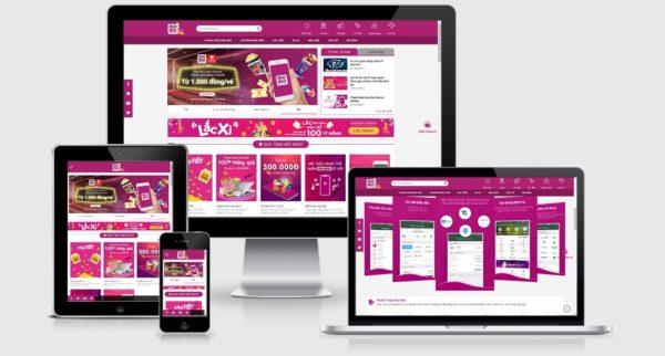Theme Wordpress giới thiệu dịch vụ chuyển tiền bằng App Momo