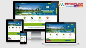 Theme WordPress landing page bất động sản - Arise Resort