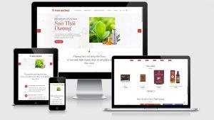 Theme Wordpress bán dược phẩm thảo dược, mỹ phẩm ThaiDuong