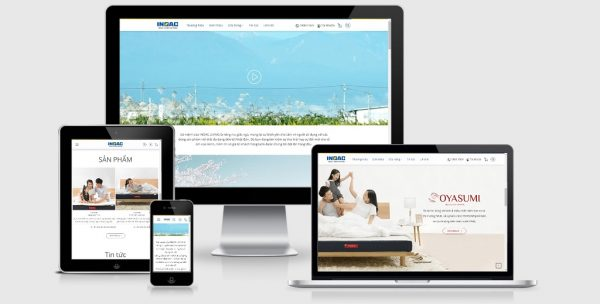 Theme wordpress giới thiệu công ty sản xuất nệm