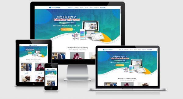 Theme Wordpress giới thiệu phần mềm bán hàng mẫu số 2