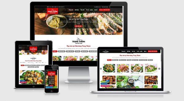 Theme Wordpress nhà hàng tuyệt đẹp - Mẫu số 3