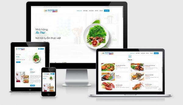 Theme Wordpress nhà hàng đẹp - Mẫu số 4