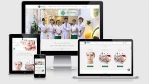 Theme Wordpress giới thiệu trung tâm chăm sóc da Dr Hùng