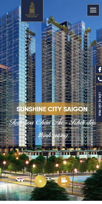 Theme WordPress dự án bất động sản mẫu số 18 - Sunshine City