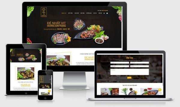 Theme Wordpress dành cho nhà hàng đẹp - Mẫu số 5