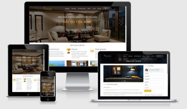 Theme Wordpress giới thiệu khách sạn mẫu số 1