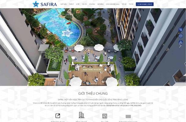Theme Giới thiệu dự án bất động sản - Safira