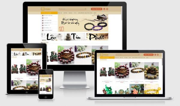 Theme Wordpress shop phong thủy - Đá quý, vòng tay phong thủy