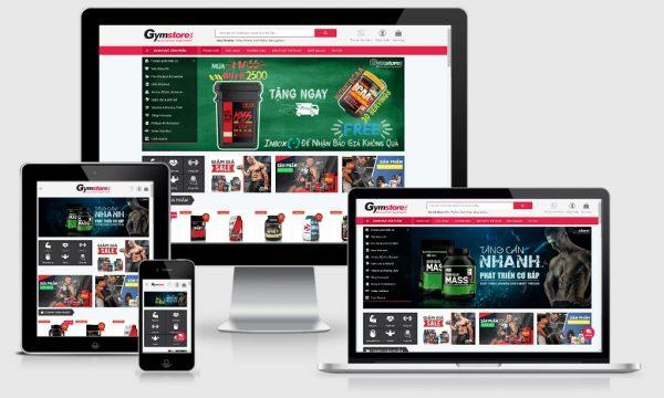 Theme Wordpress bán thực phẩm chức năng hỗ trợ tập thể hình - gym