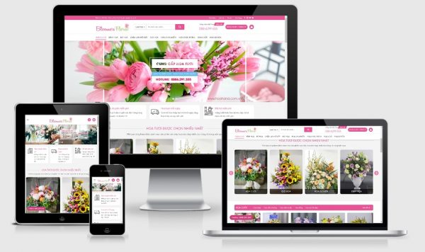 Theme Wordpress shop hoa tươi mẫu số 3 - Giao diện web Wordpress
