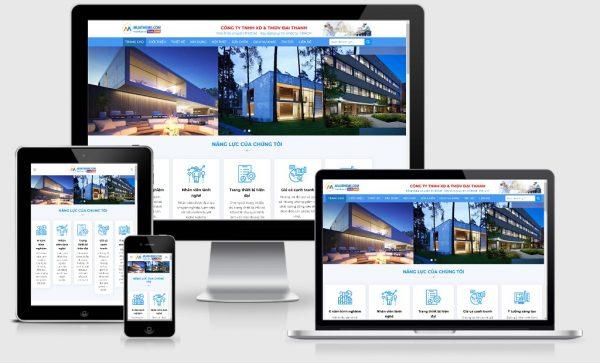 Theme Wordpress giới thiệu công ty kiến trúc mẫu số 2
