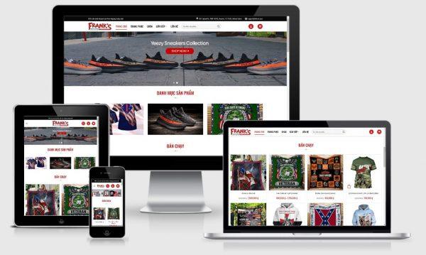 Theme Wordpress shop bán hàng mẫu số 4 - Shop thời trang