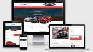 Theme WordPress dịch vụ cho thuê xe oto mẫu số 2